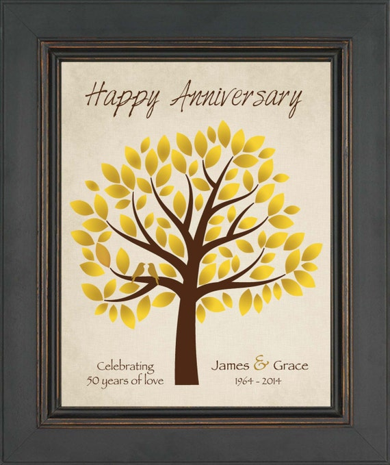 Unique Golden Wedding Anniversary Gifts: Personalized Gift For Couple