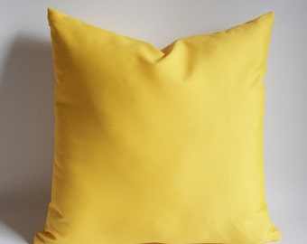 Yellow pillow covers, Decorative pillow cover Throw pillow, Canvas Cotton Blanded, 16,18,20,22,24,26,28,30 inches