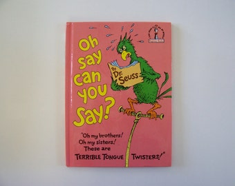 Oh Say Can You Say Hardbound book Bright and Early Books for Beginning Beginners - Children's Book, Tongue Twister Book, Rhymes, Poems