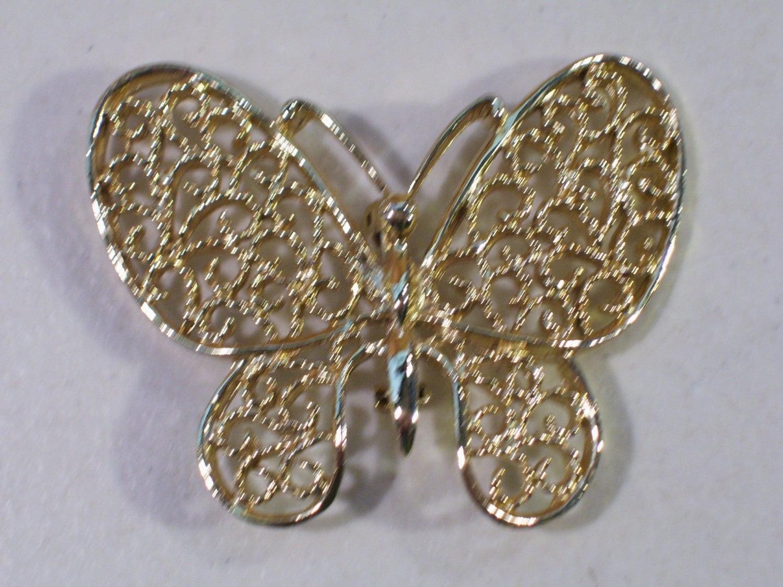 vintage gerrys gold tone butterfly brooch pin jewelry
