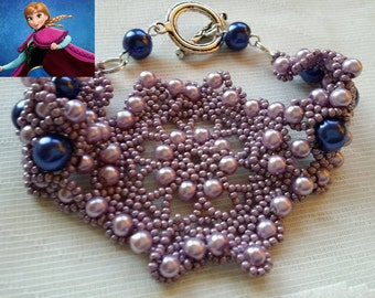 Frozen inspired bracelet Mauve and Lilac