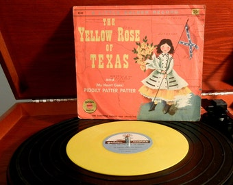 The Yellow Rose of Texas A Little Golden Record (1955) Vintage 78 RPM