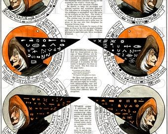 ANTIQUE WITCH'S Hat Game Halloween Illustration. RARE! Vintage Halloween Digital Download. Fantastic For Halloween Paper Crafts!