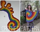 Crochet Pattern - Freeform Spirals