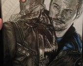 Original Drawing of Chris Pratt as Star-Lord in Guardians of the Galaxy (NOT a print)