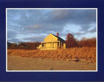 House on Fowler's Beach - photo card