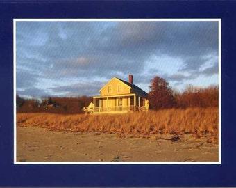 House on Fowler's Beach - photo card