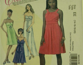 "Evening Dress - 2010's - McCall's Create It Pattern 6029 Uncut  Sizes 14-16-18-20  Bust  36-38-40-42"""