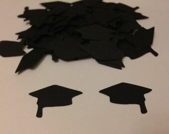 Cap Confetti - Black Cap Die Cuts / Graduation Confetti / Party Confetti / Table Confetti / School Party / High School / College