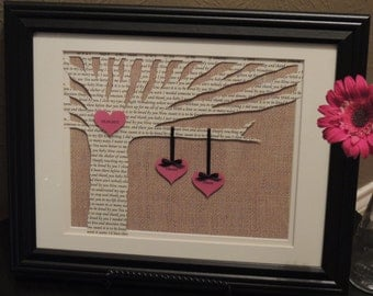 Personalized Wedding Gift, Unique Anniversary Gift, Wedding Gift, Bride Gift, Mothers Day Gift, Love Song 3D Paper Lyric Tree - Framed Art