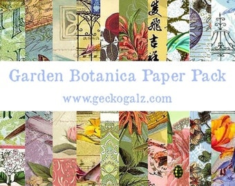 Garden Botanical Digital Paper Pack