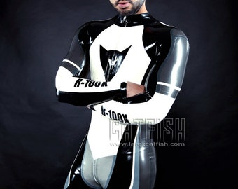 Best Man Gift / Briefly Overalled /  Sexy Cool&Tight Man Latex Clothing,Latex Catsuit