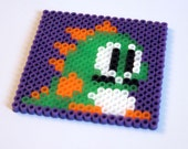 Bubble Bobble Pixel Art Coaster