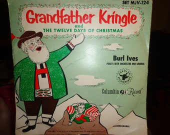 Vintage Christmas Record Grandfather Kringle Burl Ives Christmas Vintage Record