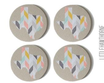 Drink Coasters / Texas Coasters / Fabric Coasters / Coaster Set