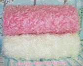 SALE - MOHAIR  Blue , Pink or White, 1/4 yard - 1 Fat Quarter - White Fabric 3/4 inch pile