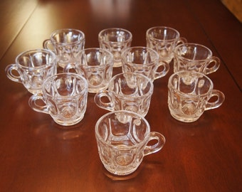 1940s Tiffin Old Mirror Punch Cups Set of Eleven