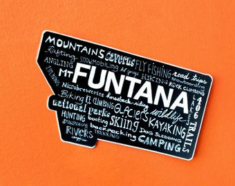 Montana equals FUNTANA Sticker