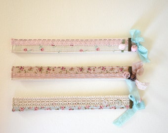 Shabby Chic Bookmarks / Fabric Bookmarks