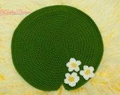 Crochet Pattern Lily Pad Blanket Pattern -  PDF - Instant Digital Download