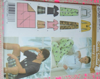 Simplicity 4798 Misses Mens and Teems pants or Shorts Top and Blanket Sewing Pattern - UNCUT - Size L XL