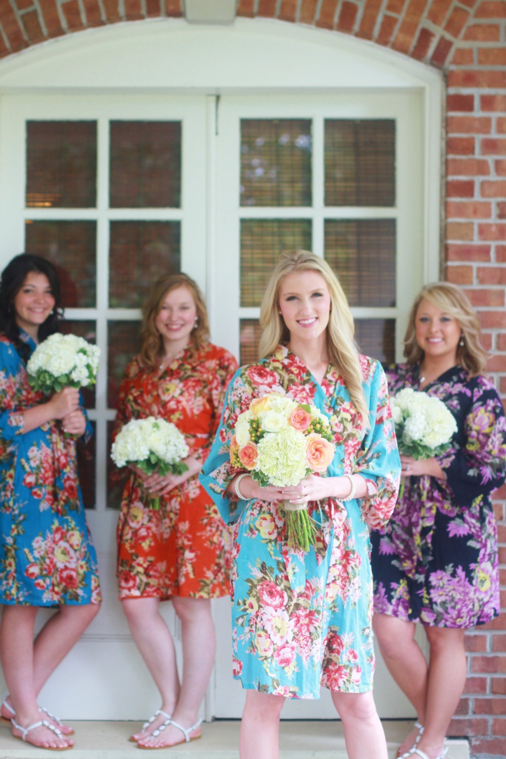 Sexy Dress, Personalized Kimono, Boho Chic Bridesmaid Robe, Floral Pajama, Bridal Robe Dress, Wedding Day Robe, Kimono Crossover