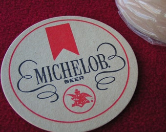 15 Michelob Paper Coasters, Vintage  and new, perfect for man cave and ballgame parties.