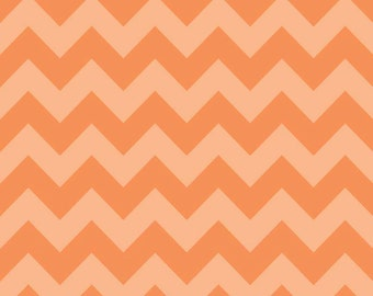 Riley Blake Fabric by the Yard Tone on Tone Medium Chevron Orange C380-61
