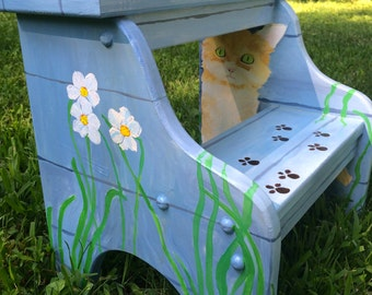 Hand Painted Stepping Stool