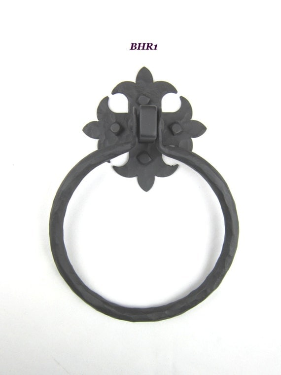 Bhr Rustic Spanish Style Wrought Iron Hardware Towel Ring