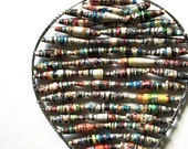Hot Air Balloon // Comic Book Paper Beads // Recycled Rolled Paper // Handmade Ornament