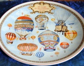Reserved for S -Vintage Wedgwood Ballooning Plate - Celebrates 200 Years Ballooning - 1980's - Rare, Collectible!