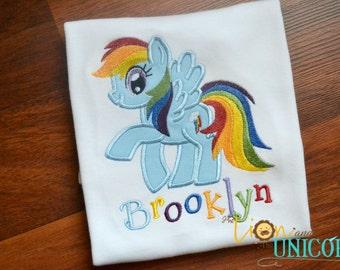 Rainbow Dash MLP applique shirt