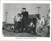 AUTOGRAPHED D.J. Fontana vintage Elvis promotional photo