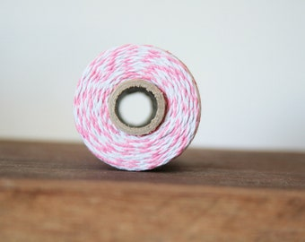 Bakers Twine - 10 Metres, Pink and White