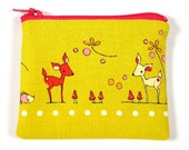 DEER zipper coin pouch