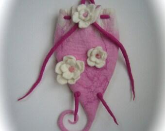 Children's Fairy backpack, Handfelted .Felted bag,Waldorf,Kindergarten.