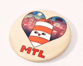 "2.25"" round button pin Ponto road barrel Montreal"