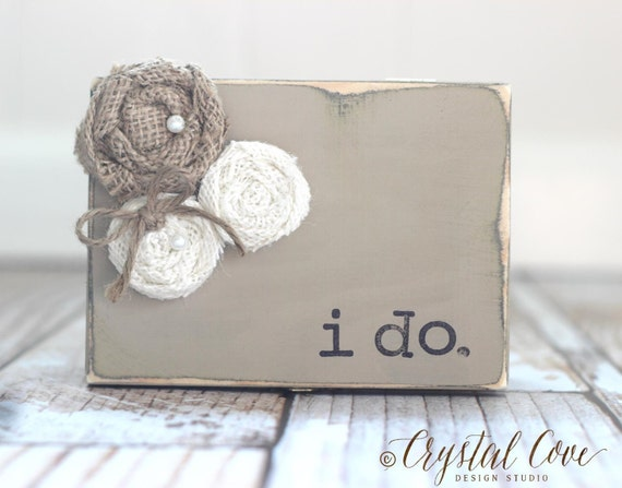 ring bearer box gift personalized rustic wedding ring box sign
