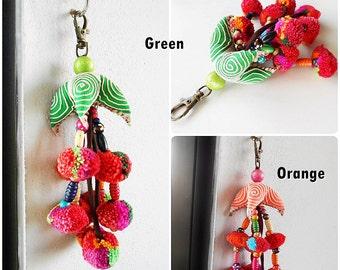 Fantasy Pillow Hmong Keychain, Zip Pull Bag Accessory Decoration Handmade. (AC1016)