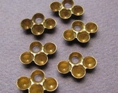 Raw Brass Charm Drop Rhinestone Settings - Brass Charms - 13mm x 9mm