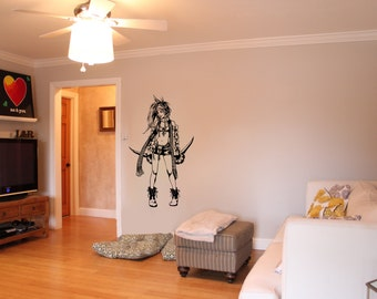 Final Fantasy X-2 Inspired  Rikku Wall Decal