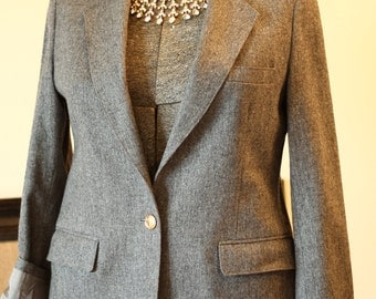 Heathered Wool Blazer