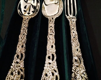Goginger Silver Plate 3pc Serving Set Nieman Marcus