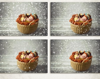 Let it Snow Christmas Photo Overlays - ID160, Instant Download