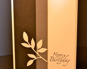 Feminine Birthday Card, Handmade Birthday Card
