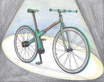 142-Bike 2.0 - Next Generation Bicycle  - Limited Edition Run of 50 (8X10 Framed, 16X20 Not Framed)