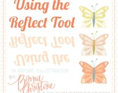 using the reflect tool in adobe illustrator
