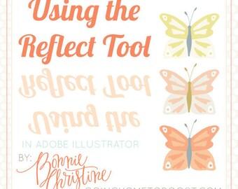 using the reflect tool in adobe illustrator