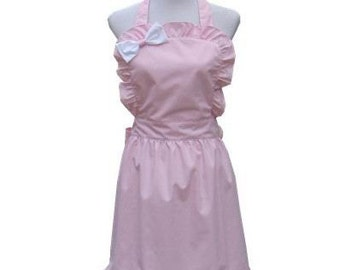 Beautiful Handmade full apron dress  for kitchen cooking Lovely Pink Accessories